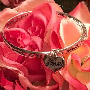 Love silver bracelet set